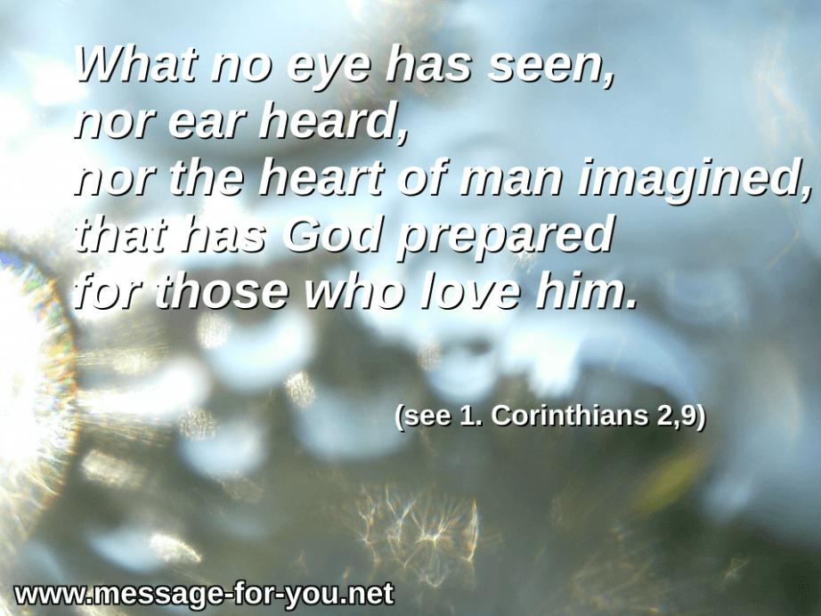 1 Corinthians 2 9 Glory