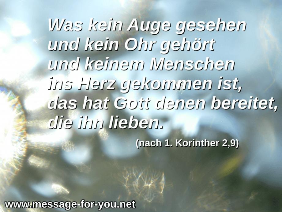 1 Korinther 2 9 Herrlichkeit