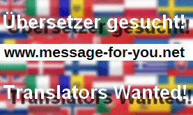 Translators Wanted Uebersetzer gesucht