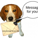 Beagle with letter-MFY-2