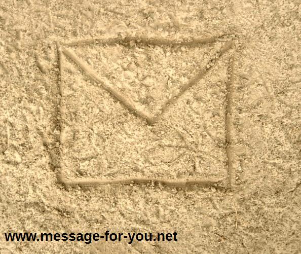 Brief im Sand Letter MFY