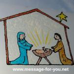 Christliches Fensterbild