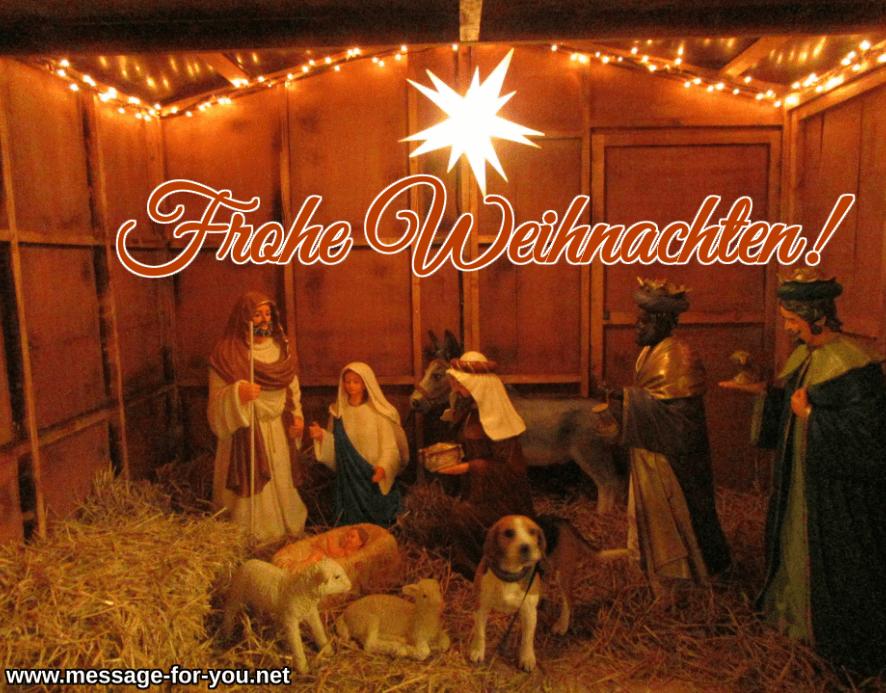 Frohe Weihnachten Hund Beagle