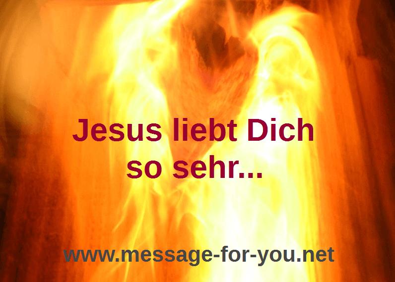 Jesus liebt Dich Brennendes Herz