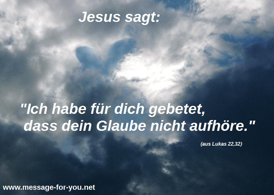 Lukas 22 32 Jesus betet